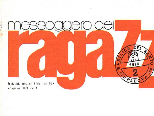 Testata anni '70 del Messaggero dei Ragazzi