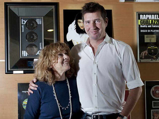 Caterina Caselli con il figlio Filippo Sugar