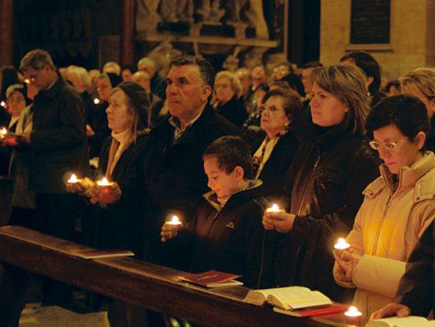 Basilica del Santo. Triduo pasquale. Veglia del Sabato Santo.