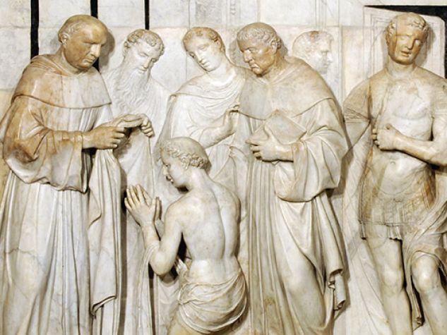 l'altorilievo della vestizione di sant'Antonio di Giovanni Minello, Basilica del Santo, Padova