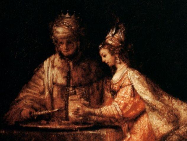 Rembrandt Van Rijn, «Assuero, Aman ed Ester» (1660 circa).