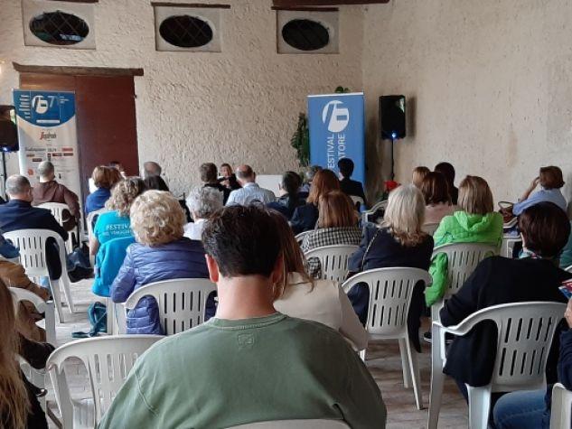 L'incontro «Dal naufragio, un cammino» con fra Fabio Scarsato e il giornalista Alberto Friso. L'evento si è tenuto sabato 25 settembre a Palazzo Fietta Serena, Asolo, nell'ambito del Festival del Viaggiatore 2021.