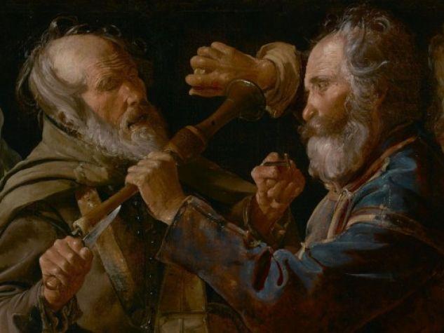 «La rissa tra musici mendicanti», 1625-1630, The J. Paul Getty Museum, Los Angeles, USA.