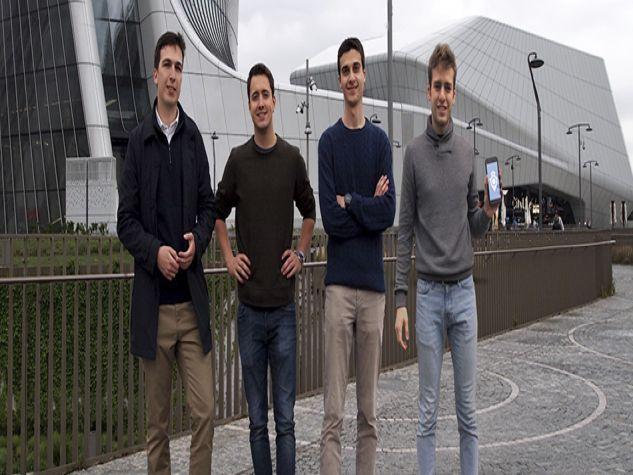 i quattro ideatori dell'app
