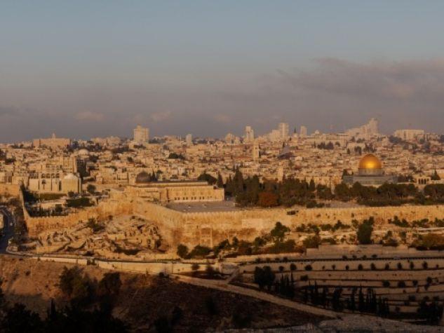 Una panoramica della Città Vecchia di Gerusalemme.