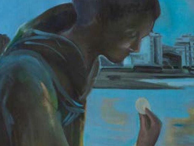 Giuseppe Amorim Esposito, «Alla Foce del Marecchia», olio su tela, 105x125 cm.