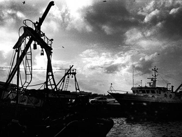 Lampedusa. Borga. Cimitero barche