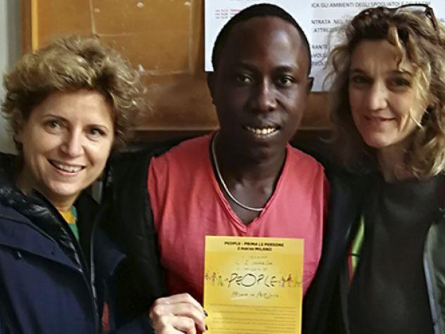 Angela Marchisio, Hamadou Bilget e Marta Dore