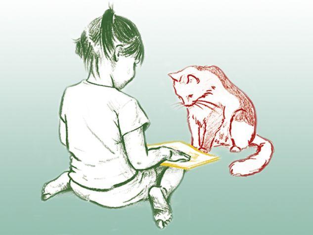 """Da una illustrazione di Alejandra Estrada pubblicata in """"Nina e Teo"""" (Kalandraka)."""