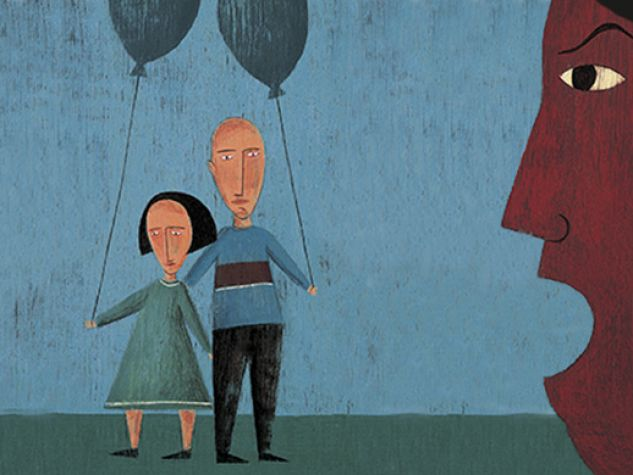 figli tra genitori separati che litigano