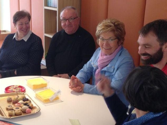 Alcuni volontari del Parkinson cafè di Arzignano (VI)