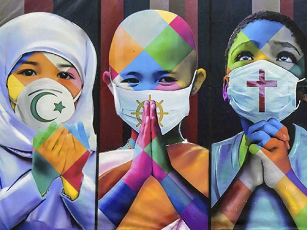 Murales pandemia nel mondo