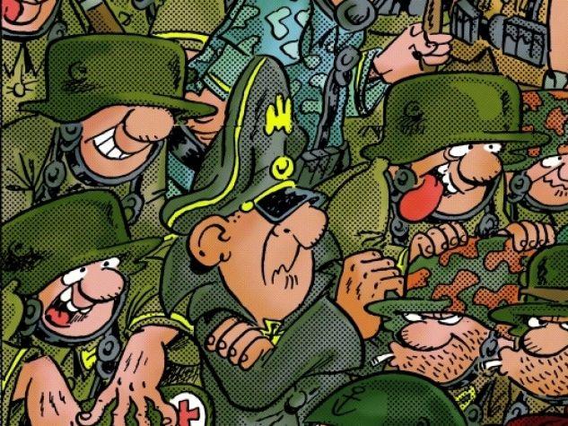 I mitici soldaten riuniti in una recente illustrazione.