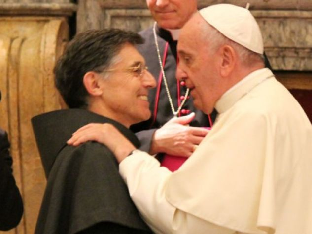 fra Carlos Trovarelli con papa Francesco