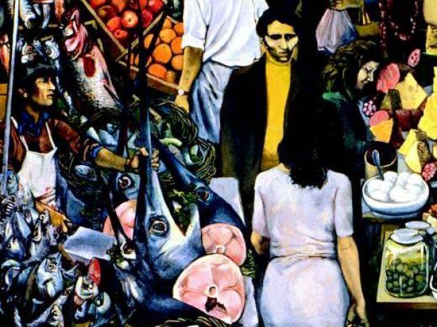 Renato Guttuso, «La Vucciria» (particolare), 1974, olio su tela, Palazzo Steri, Università degli Studi di Palermo.
