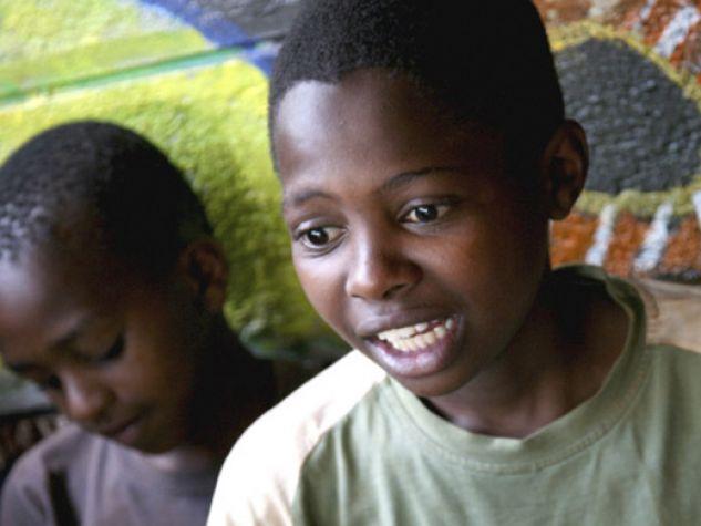 Nairobi, Kenya. Bambini accolti nei progetti di Koinonia, comunità fondata da P.Kizito Sesana.
