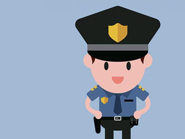 illustrazione, poliziotto