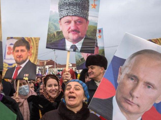 manifestazione a Grozny
