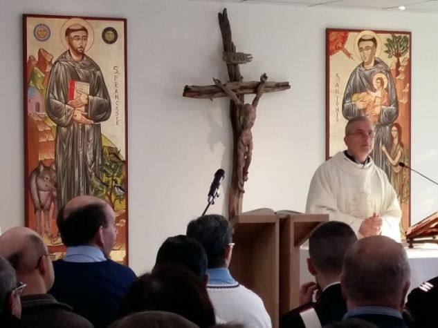 inaugurazione restauro Villaggio sant'Antonio di Noventa, Messa nella nuova cappella