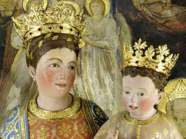 Madonna Mora, scolpita da Rinaldino di Francia nel 1396.