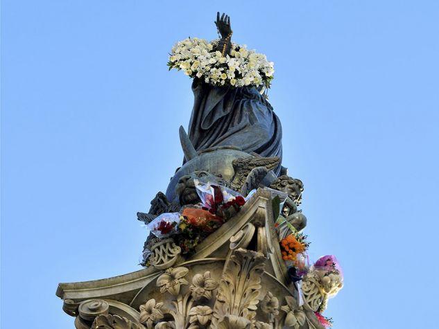 la statua dell'Immacolata di piazza di Spagna, a Roma