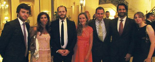 Maria Ines Tarelli, la seconda da sinistra, con alcuni componenti del LIA