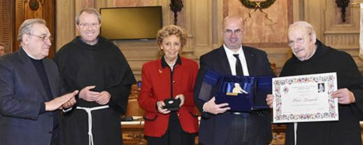 Fra Giampaolo Pinato. Emi aprile 2018. Premiazione Padovani nel mondo 2017