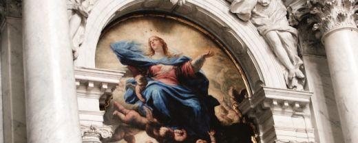 Particolare dell'Assunta di Luca Giordano, alla Chiesa di Santa Maria della Salute di Venezia.
