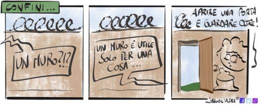 vignetta: un muro serve ad aprire porte