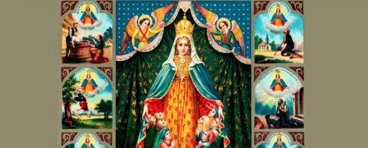 La Madonna di Monte Berico in un santino di inizio '900.