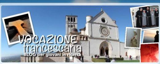 L'home page del blog «Vocazione Francescana» prima del restyling.