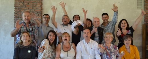 Claudio Massone Stagno, presidente dell'Associazione ligure di Santiago del Cile, con i suoi consiglieri.