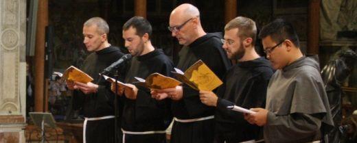i 5 giovani frati emettono la professione solenne