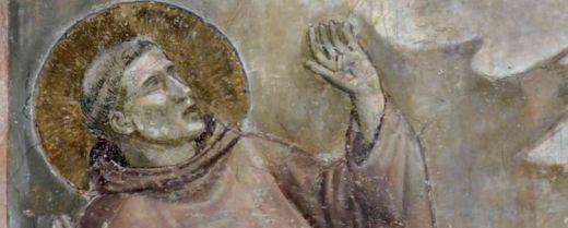 Scuola giottesca, «San Francesco riceve le stimmate» (particolare), Sala del Capitolo, Basilica del Santo.