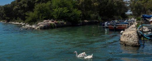 la foce del Galèso a Taranto