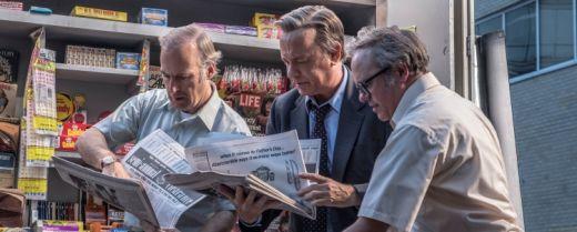 Una scena tratta da «The Post», con protagonista Tom Hanks (al centro).