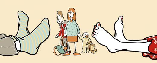 illustrazione genitori stanchi