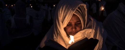 una cristiana copta nella notta del TImkat