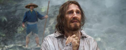 Liam Neeson in una scena di «Silence».