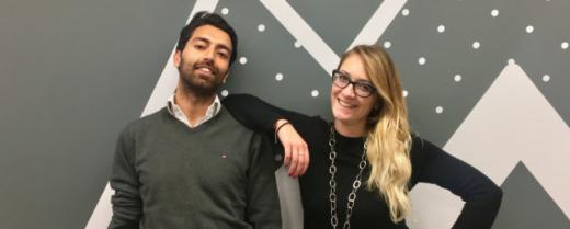 Francesca Boccolini con l'amico Mikhil. Insieme hanno creato l'app Sonicjobs.