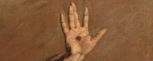 particolare della mano stigmatizzata di san Francesco