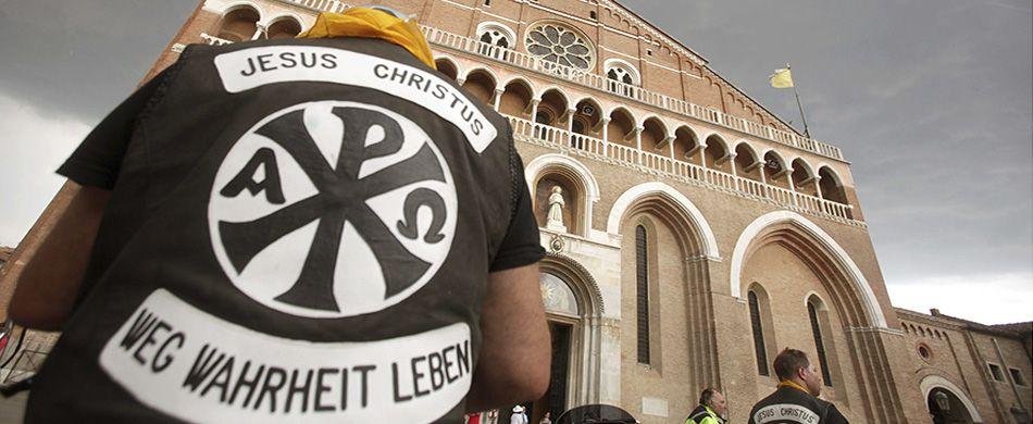 bikers in Basilica