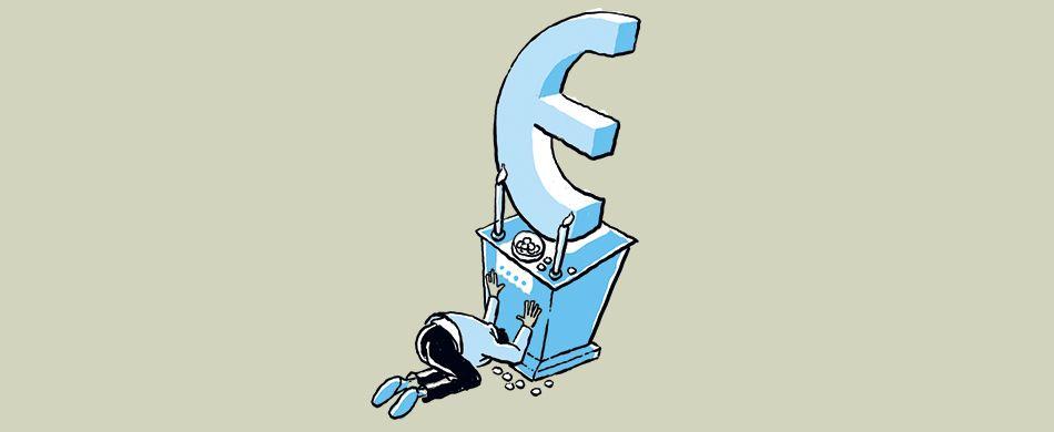 persona adora l'euro