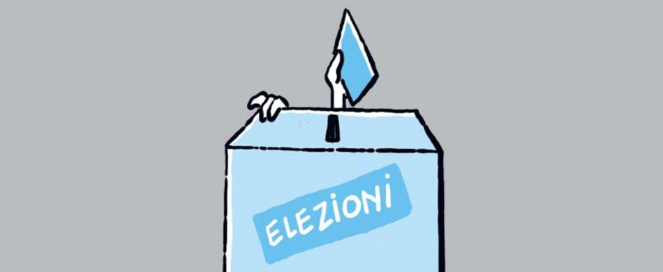 urna elettorale con bambino che vota