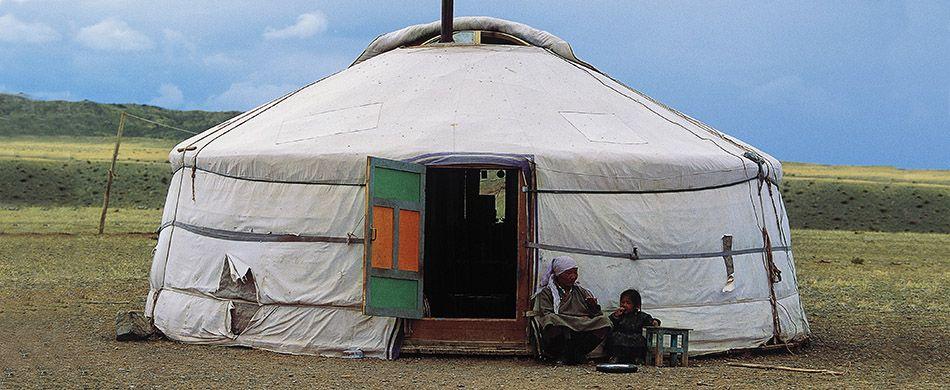 Una ger in Mongolia