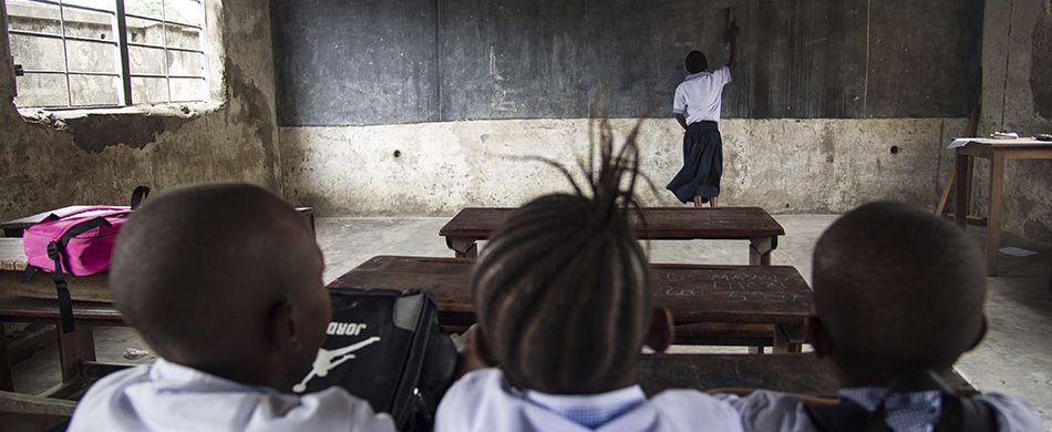 lezione di scuola in africa