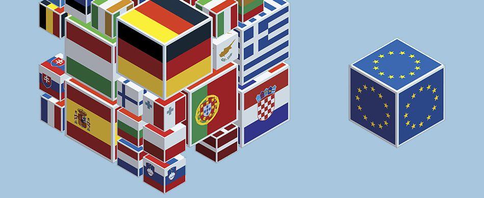 le bandiere delle nazioni europee