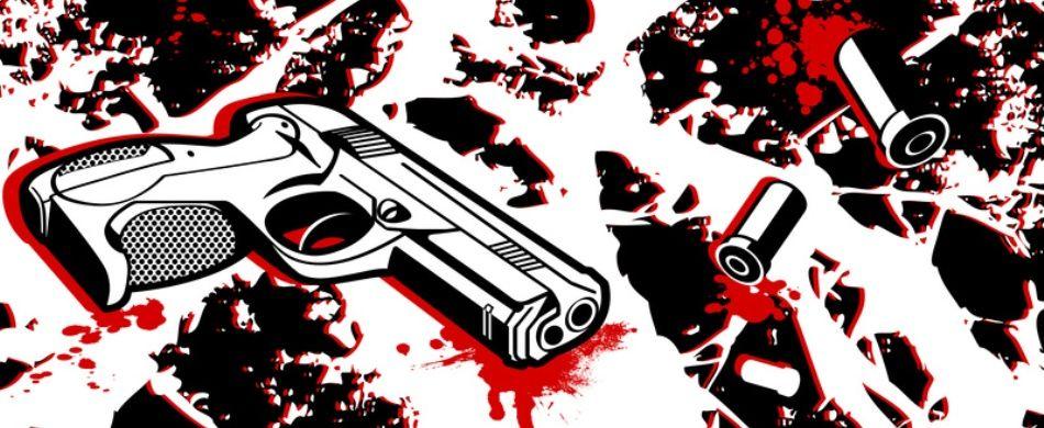 pistola e bossoli