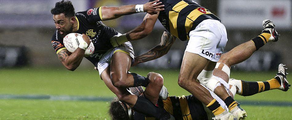 fase di gioco di una partita di rugby