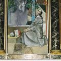 Cappella di santa Chiara, Chiara contempla il Cristo sofferente, di Lino Dinetto, 1995. - ARCHIVIO MSA